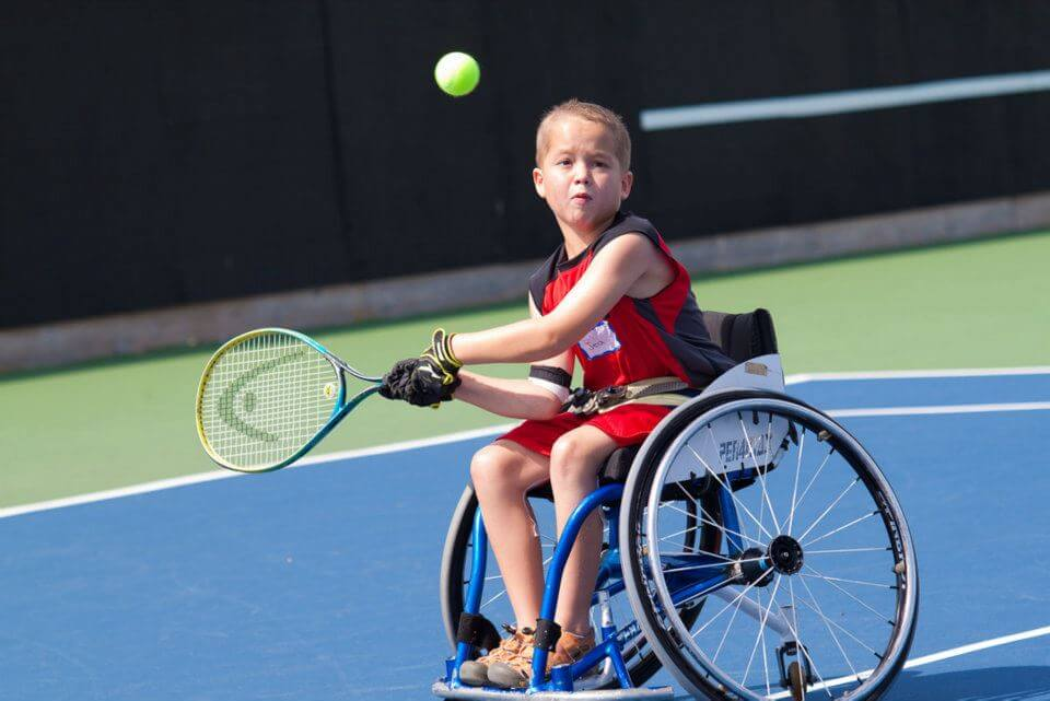Junior Wheelchair Tennis Champion