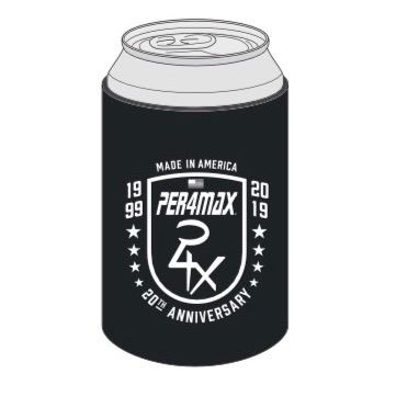20th anniversary koozie - black